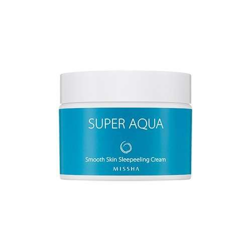 Missha Super Aqua Smooth Skin Sleepeeling Cream Mascarilla nocturna exfoliante