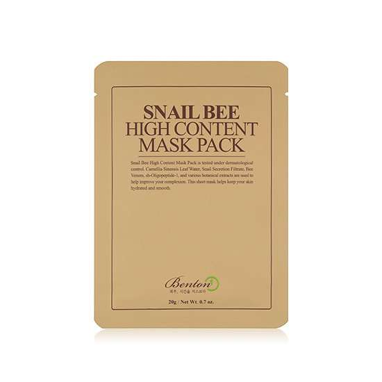 Benton Snail Bee High Content Mask Pack Mascarilla calmante y regenerante