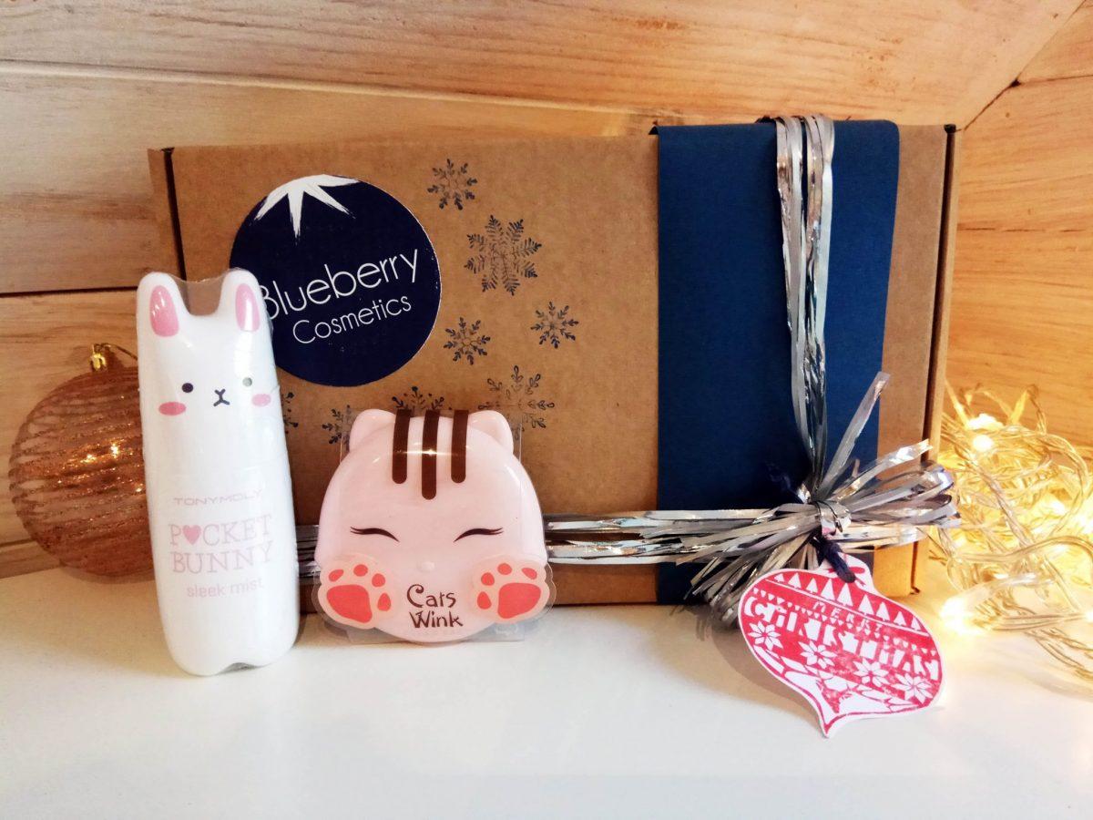 Blueberry Cosmetics Pack regalo de Navidad Pocket Bunny Cat