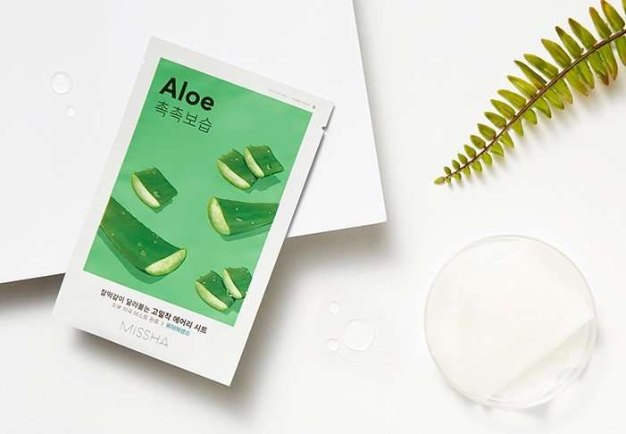 Missha Airy Fit Sheet Mask Aloe mascarilla con aloe 2